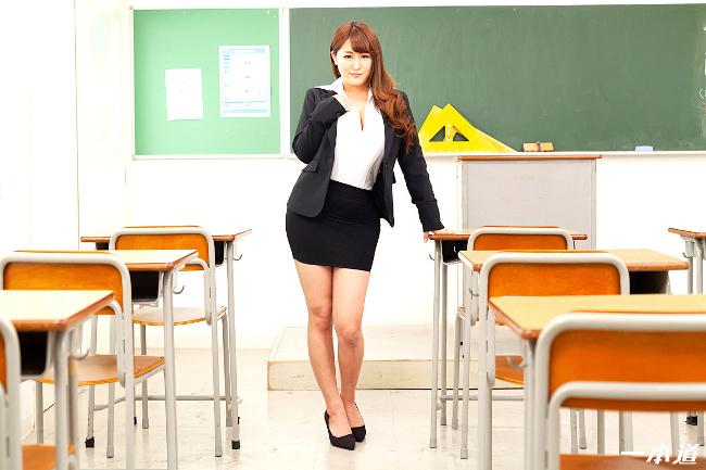 祈里きすみ 巨乳女教師の誘惑 一本道 1