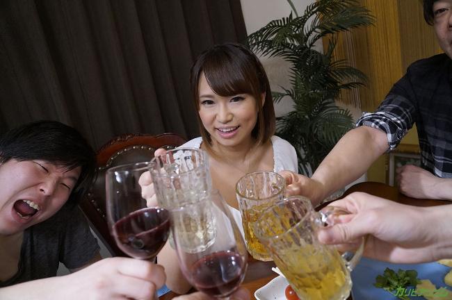 岡本理依奈 サークルの飲み会で乱交NTR 楽しく5Pで中出しポンポーン カリビアンコム 7