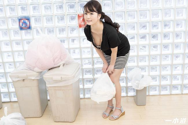 朝ゴミ出しする近所の遊び好きノーブラ奥さん 花守みらい 一本道 1