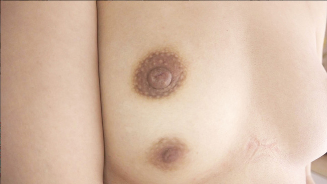 突然変異 三つ目乳首女子 人一倍の性欲なのにビーチクが3つあるコンプレックスのため365日オナニー三昧の隠れビッチ、鮮烈デビュー 4