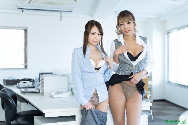 朝比奈菜々子 ルナ オフィスラバーズ ビアン上司の飴とムチムチ カリビアンコム 4
