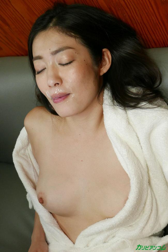 江波りゅう 女優魂 想定外にイカされ 吹かされ 汚されても笑顔の神対応 カリビアンコム 16