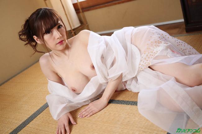 すみれ美香 洗練された大人のいやし亭 透けた浴衣越しに輝く白桃おっぱい カリビアンコム 4
